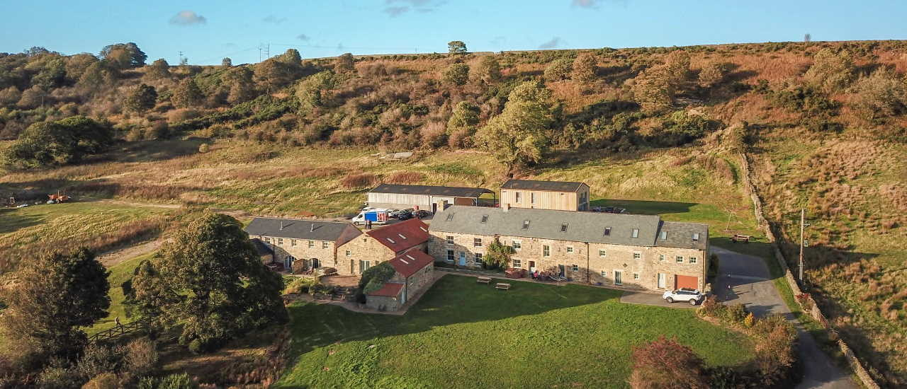 Bowlees Cottages Aerial View